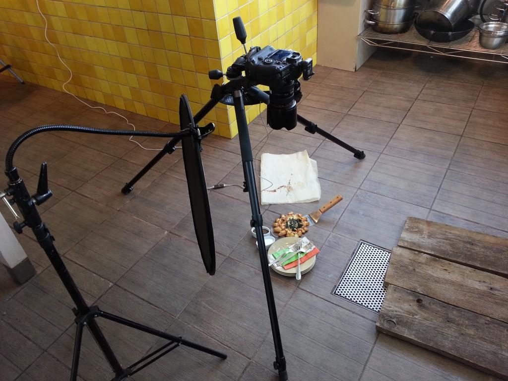 צילום מזון עילי , צילום ב-90 מעלות , חצובת מצלמה
