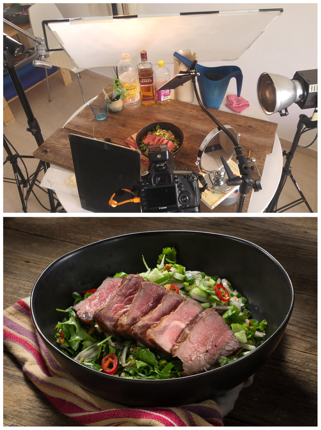 צילום מזון מקצועי, יצירת צל בצילום, צלם אוכל
