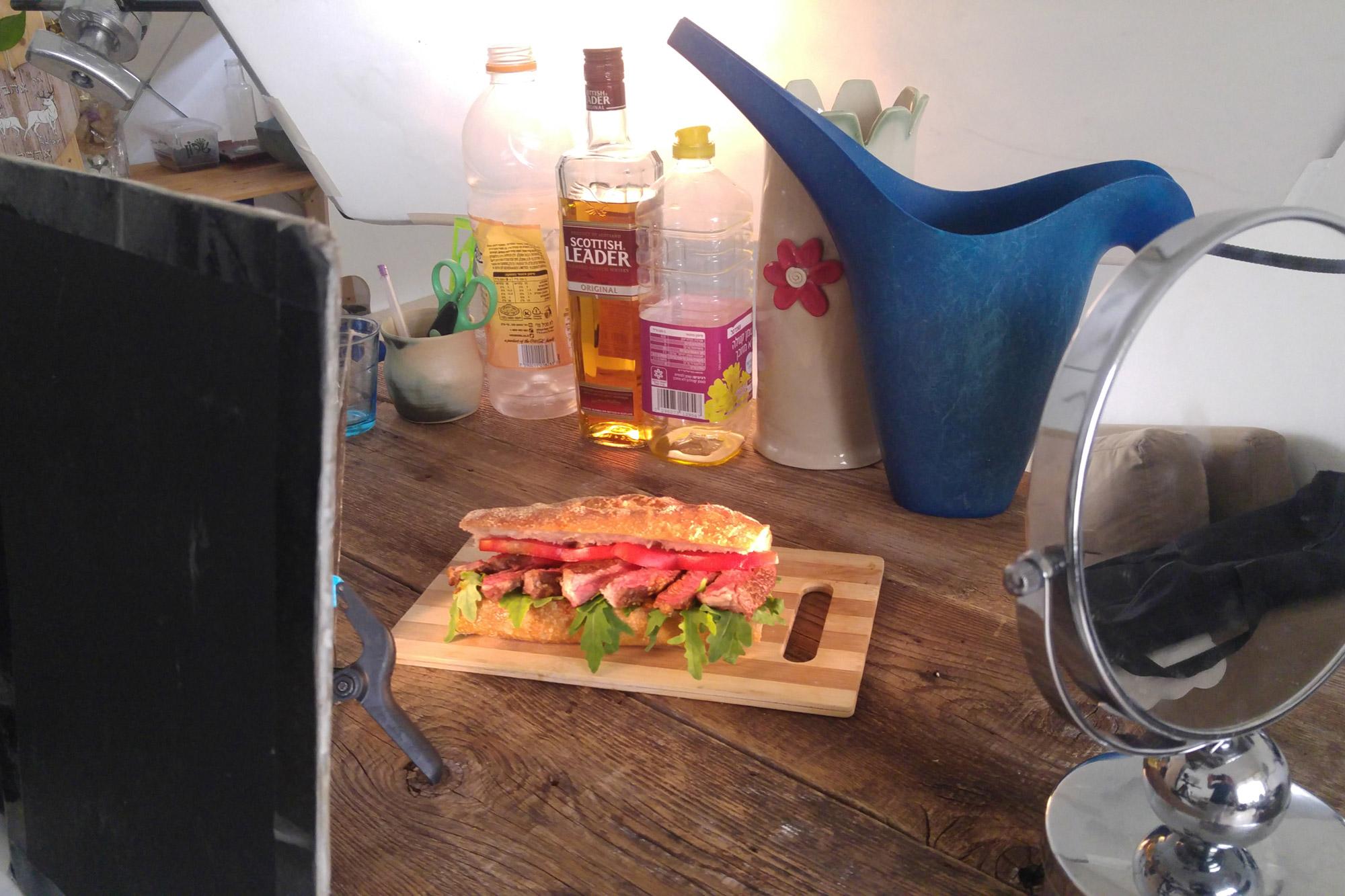 צילום מזון, יצירת צל בצילום, צלם אוכל