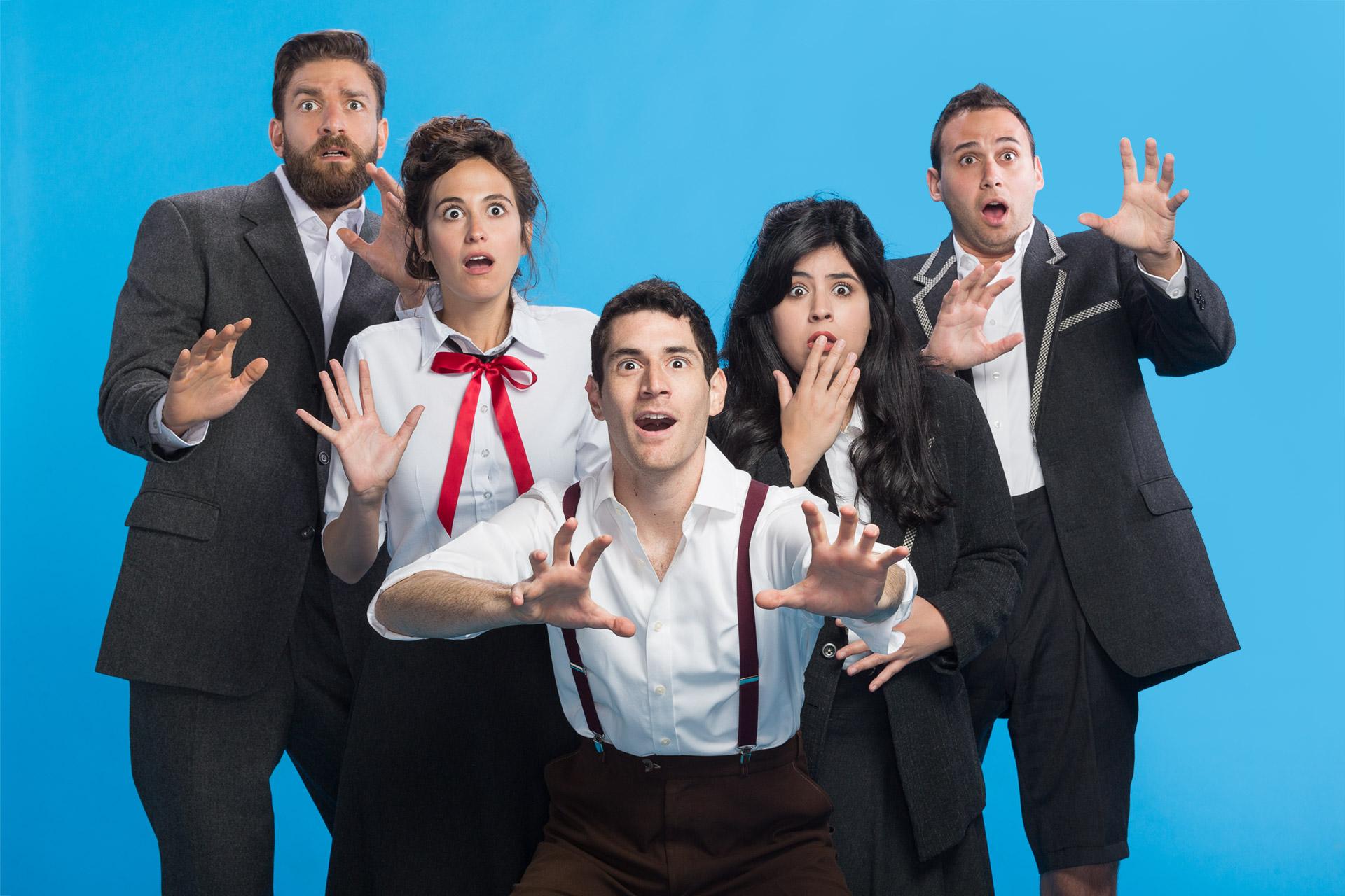 צילום סטודיו של שחקנים לפוסטר של הצגה בתאטרון המדיטק בחולון