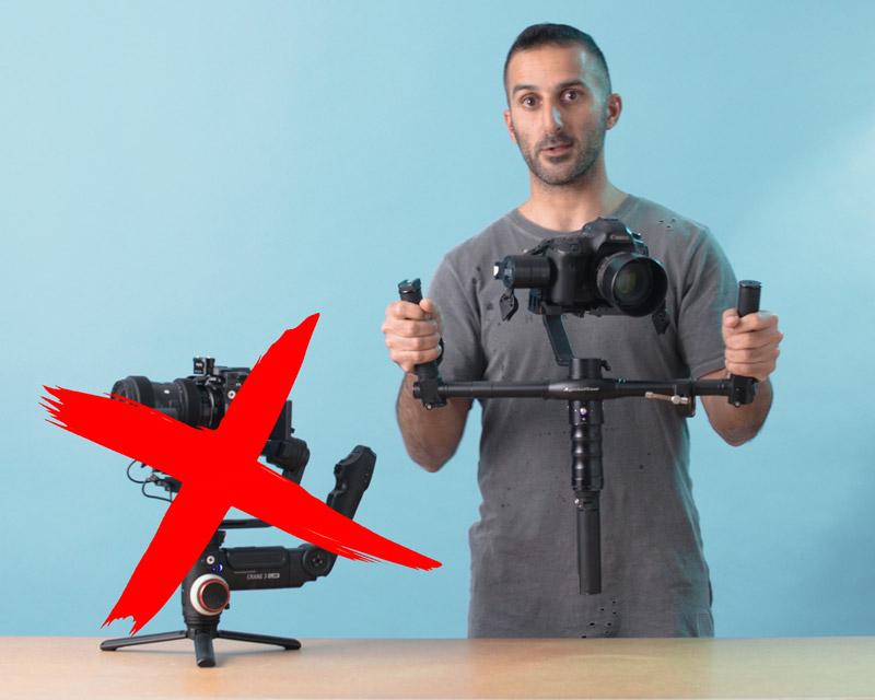 גימבל מוט עם ידיות לצילום וידאו