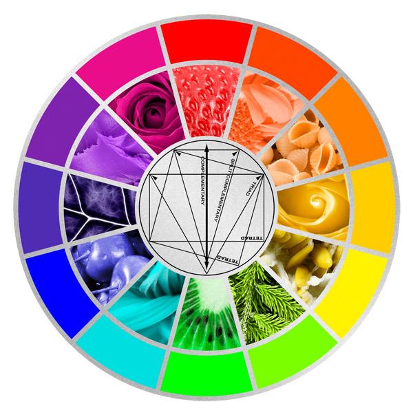 צבעים משלימים בצילום וידאו מזון